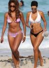 Nicole Mitchell and Claudia Jordan - Bikinis Candids in Miami -28