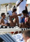 Nicole Mitchell and Claudia Jordan - Bikinis Candids in Miami -35