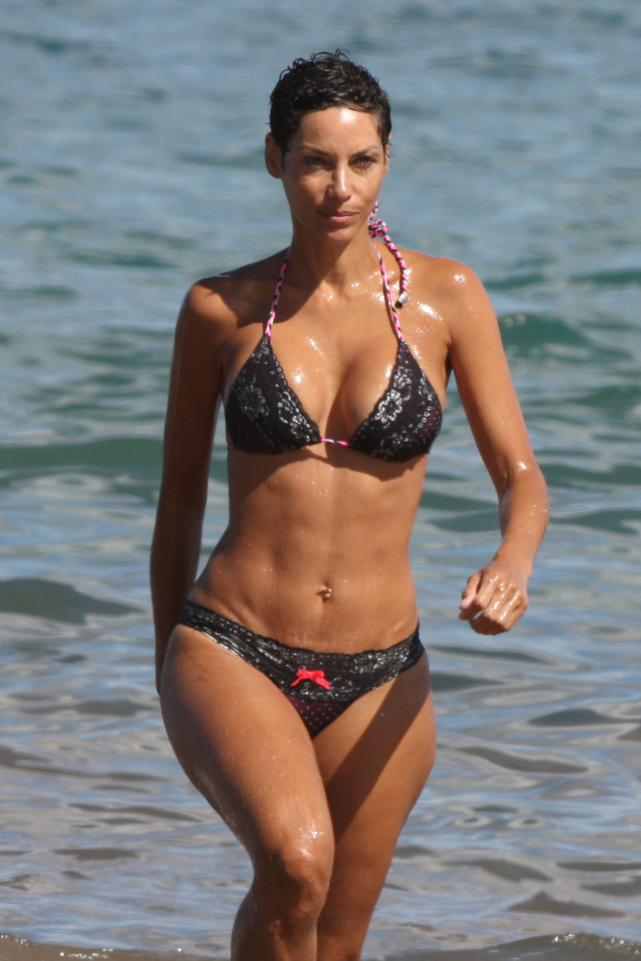 Allie Ayers Nude nicole murphy in a bikini paddleboarding at the beach