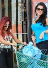 Nicole Polizzi and Jenni Farley - Filming their show in Jersey -02