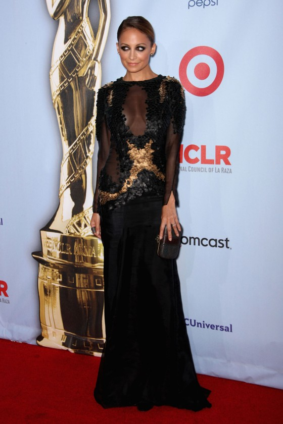 Nicole Richie 2012 : Nicole Richie Hot in seethru dress 2012 NCLR ALMA Awards-08