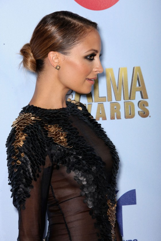 Nicole Richie 2012 : Nicole Richie Hot in seethru dress 2012 NCLR ALMA Awards-09