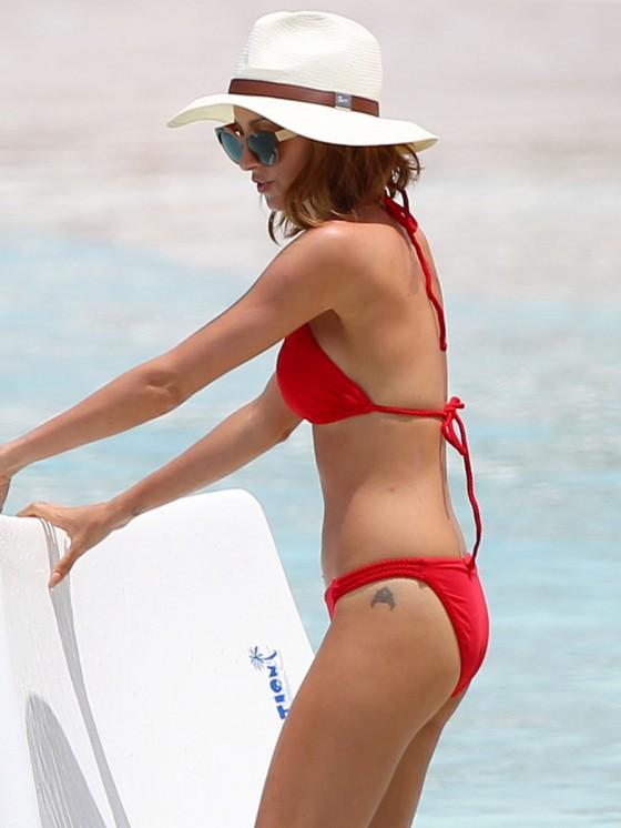 Nicole Richie in Bikini at the beach in St Barts -03