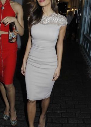 Nicole Scherzinger in Tight Dress at Kingly Club in London