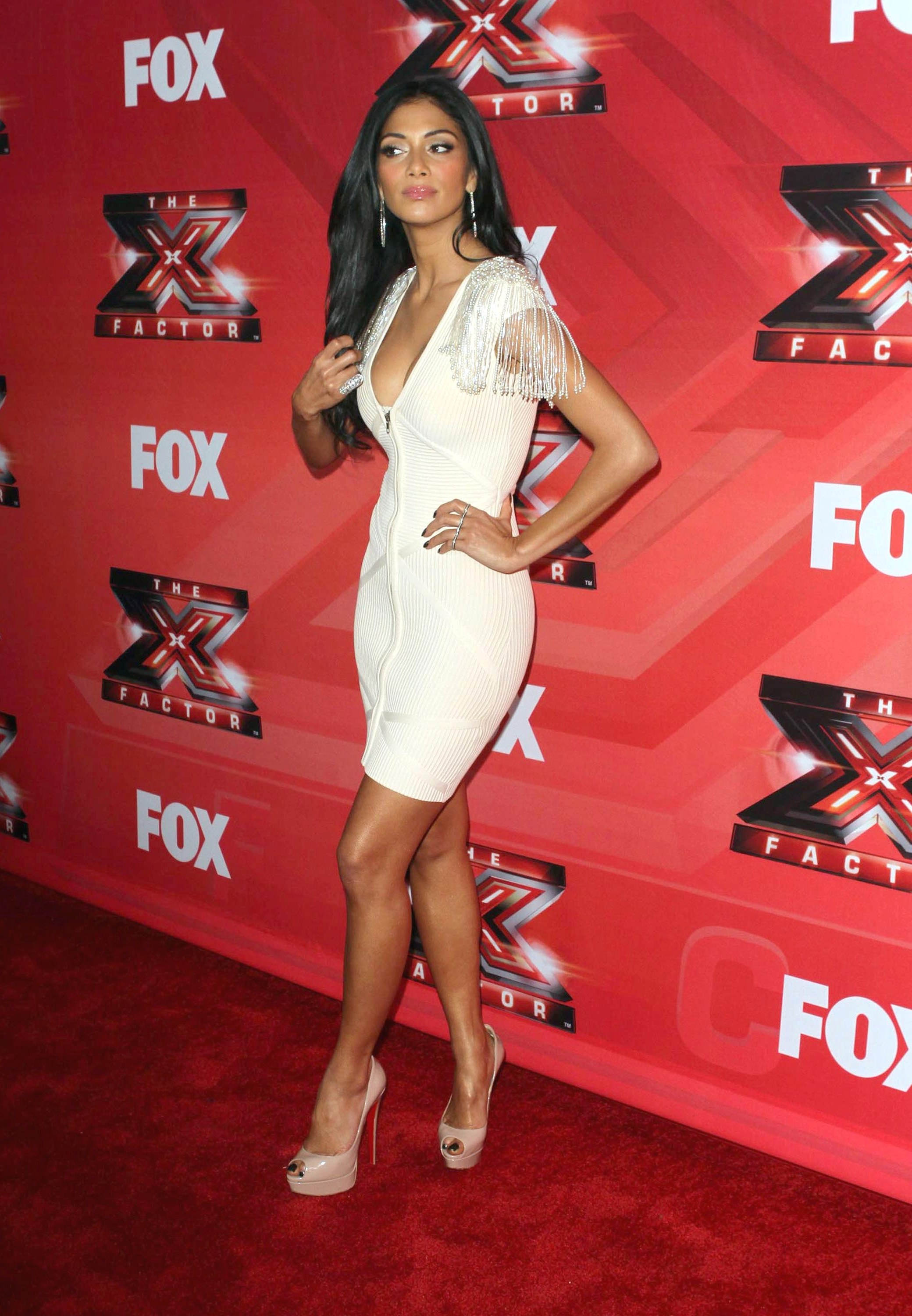Nicole Scherzinger – Cleavy and leggy at X Factor Press Conference in LA-13