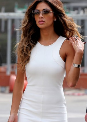 Nicole Scherzinger in White Mini Dress -03