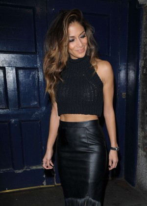 Nicole Scherzinger in Leather - Leaving The Palladium In London