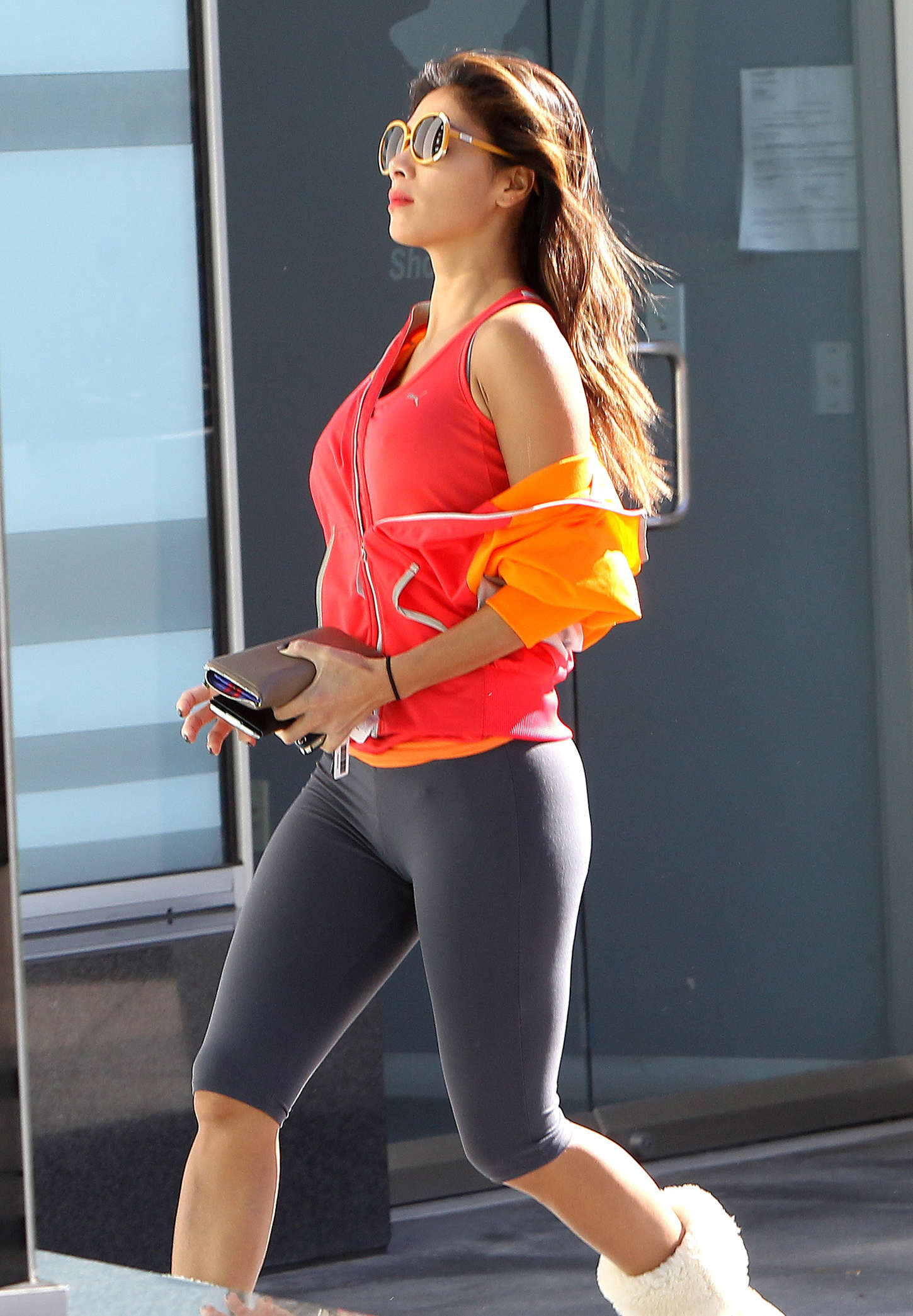 Nicole Scherzinger in Leggings out in West Hollywood