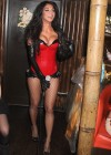 Nicole Scherzinger - In Sexy Red Costume at Mahiki Nightclub, London