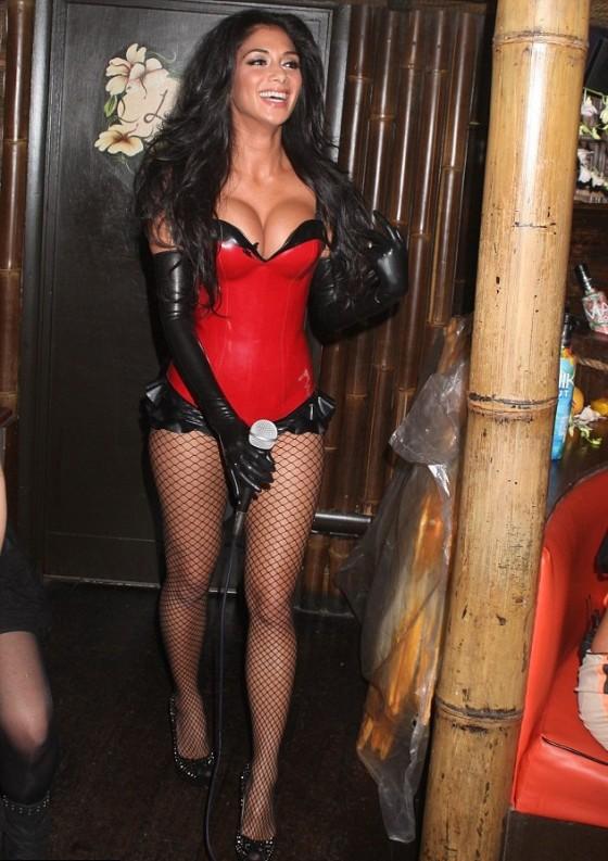Demi Lovato Hand >> Nicole Scherzinger - In Sexy Red Costume-11 - GotCeleb