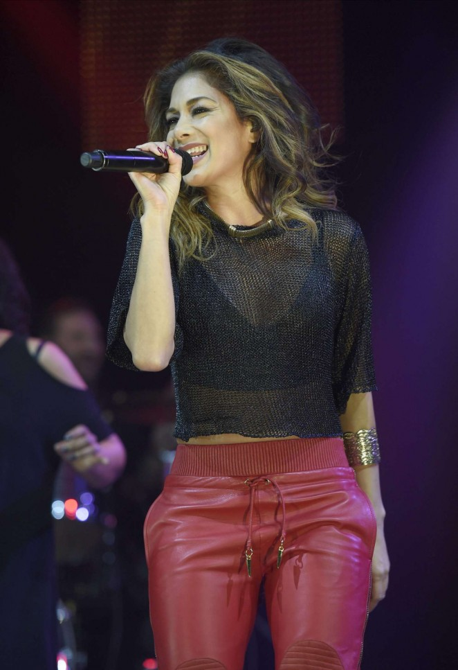 """Nicole Scherzinger - Performs at """"Key 103"""" Christmas Live in Manchester"""