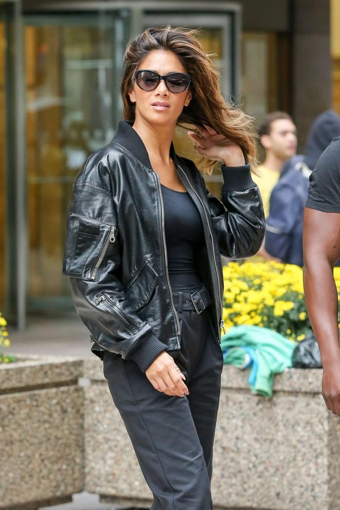 Nicole Scherzinger - Leaving SiriusXM Radio in New York