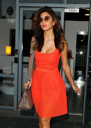 Nicole Scherzinger in Mini Dress  - Leaving The Live Nation Offices in LA