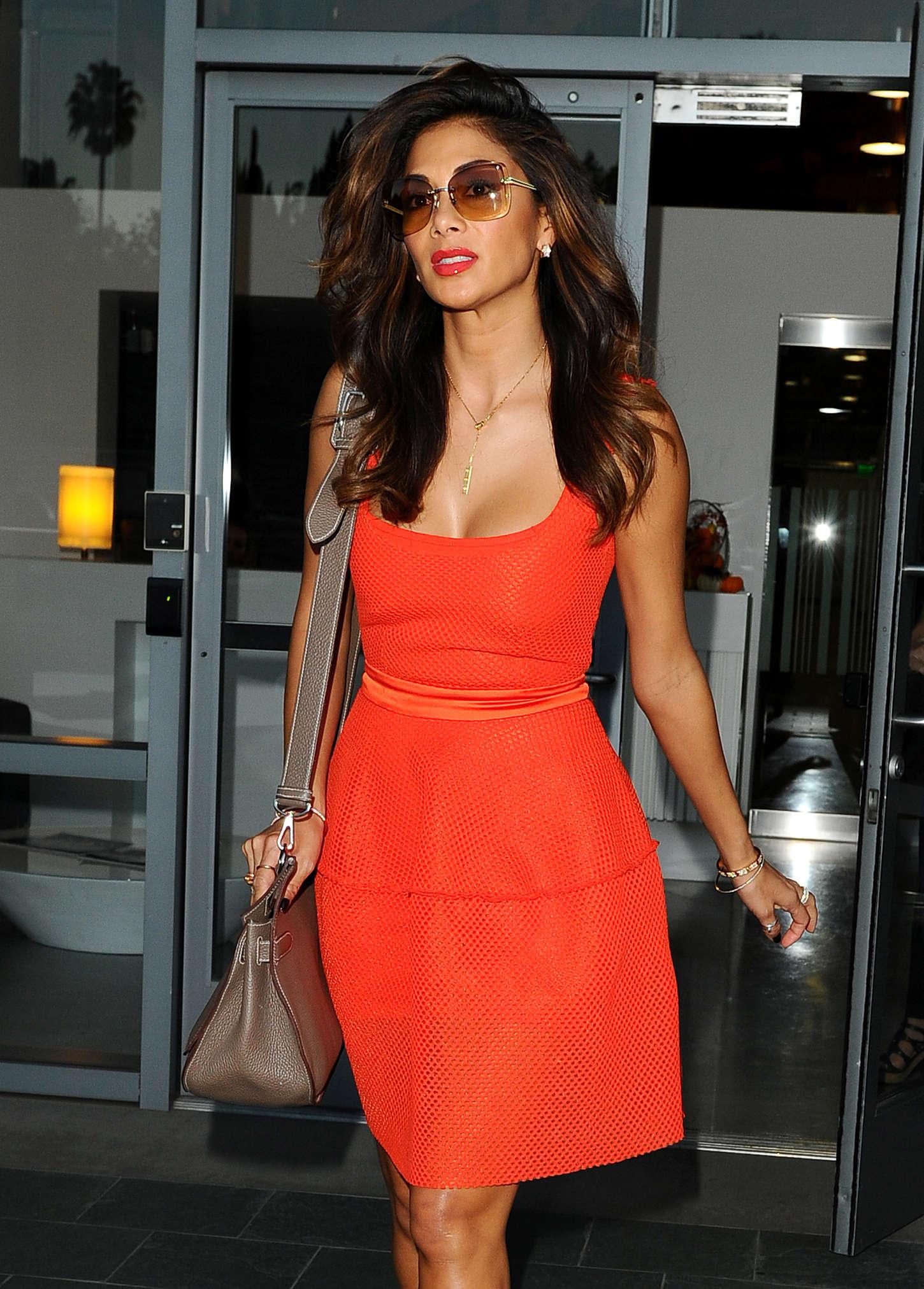 Nicole Scherzinger in Mini Dress  - Leaving The Live Nation Offices in LA