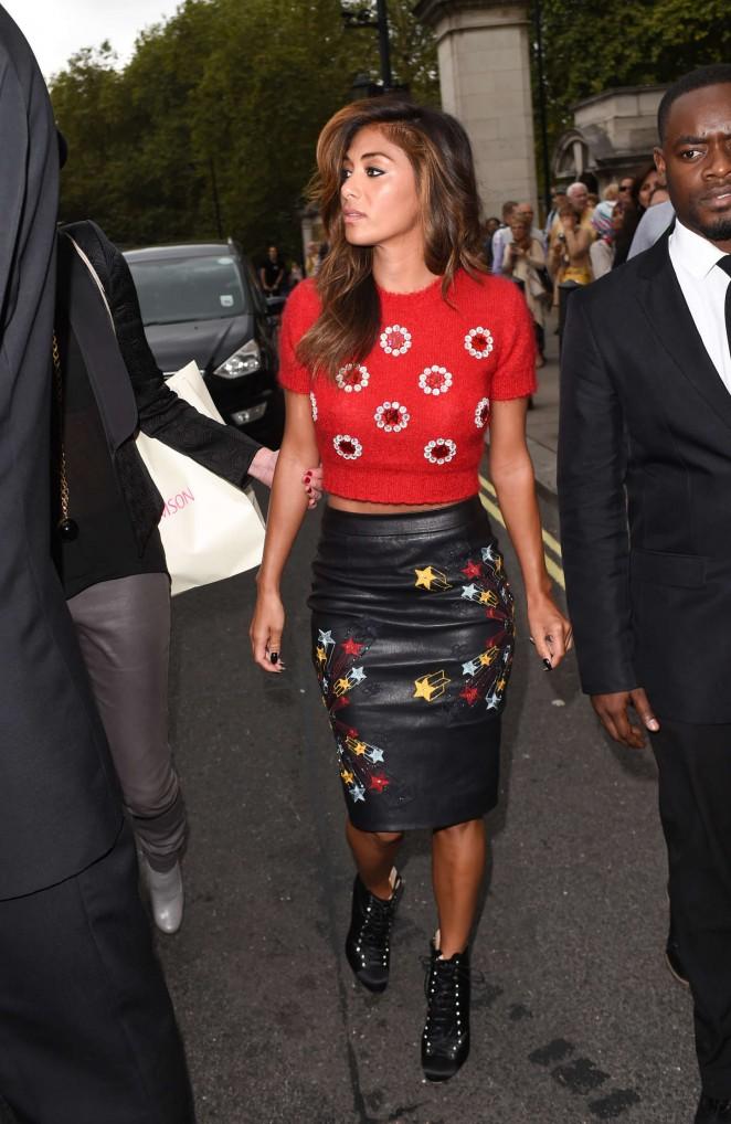 Nicole Scherzinger - Matthew Williamson Fashion Show in London