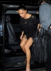 Nicole Scherzinger shows her legs at Nobu Berkeley Restaurant in London