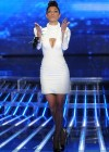Nicole Scherzinger - Leggy in white Dress at X Factor Top 3 Performance Show in Hollywood-03