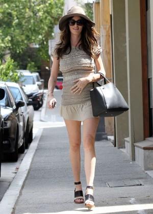 Nicole Trunfio Leggy in Mini Skirt -01