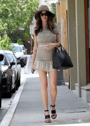 Nicole Trunfio Leggy in Mini Skirt -07