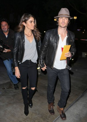 Nikki Reed and Ian Somerhalder - Arriving at the Staples Center in Los Angeles