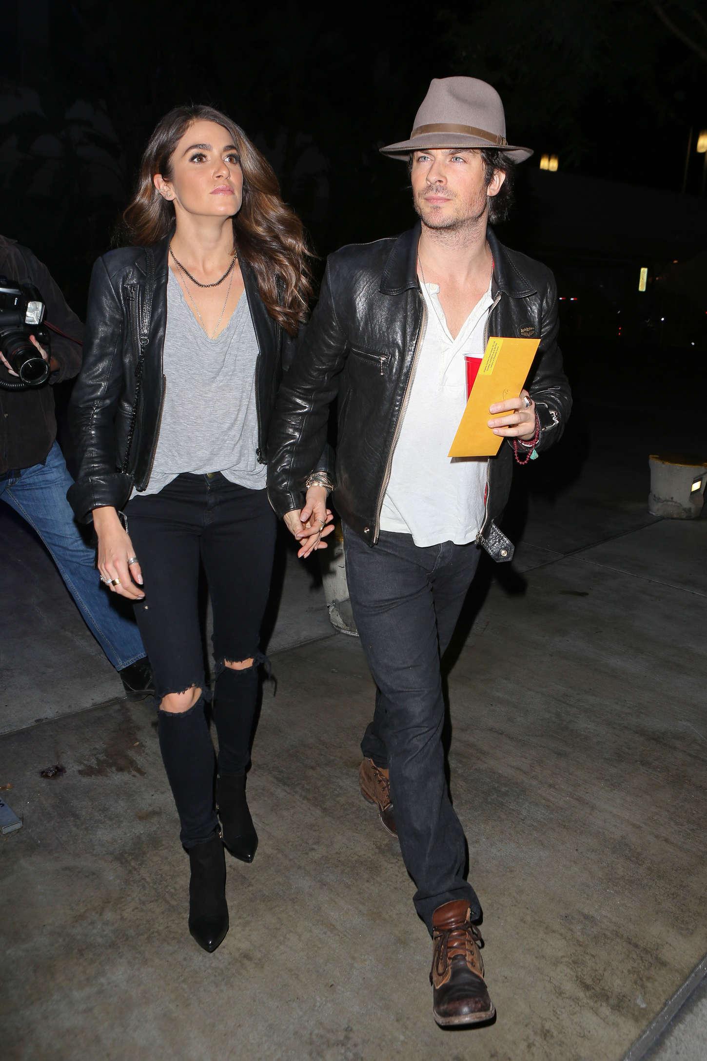 Nikki Reed 2014 : Nikki Reed and Ian Somerhalder at the Staples Center -17
