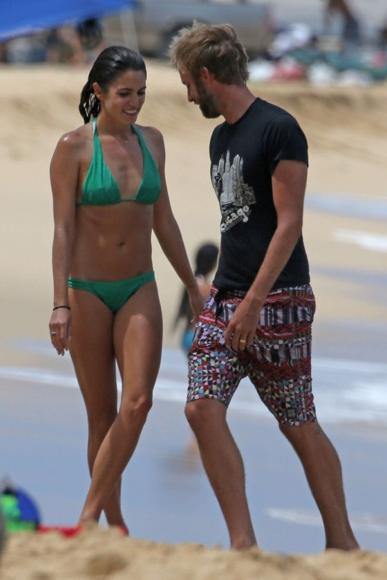 Nikki Reed Wearing a Bikini at a Beach in Hawaii
