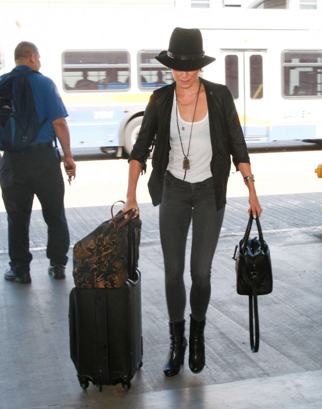 Nikki Reed in Tight Jeans at LAX airport in LA