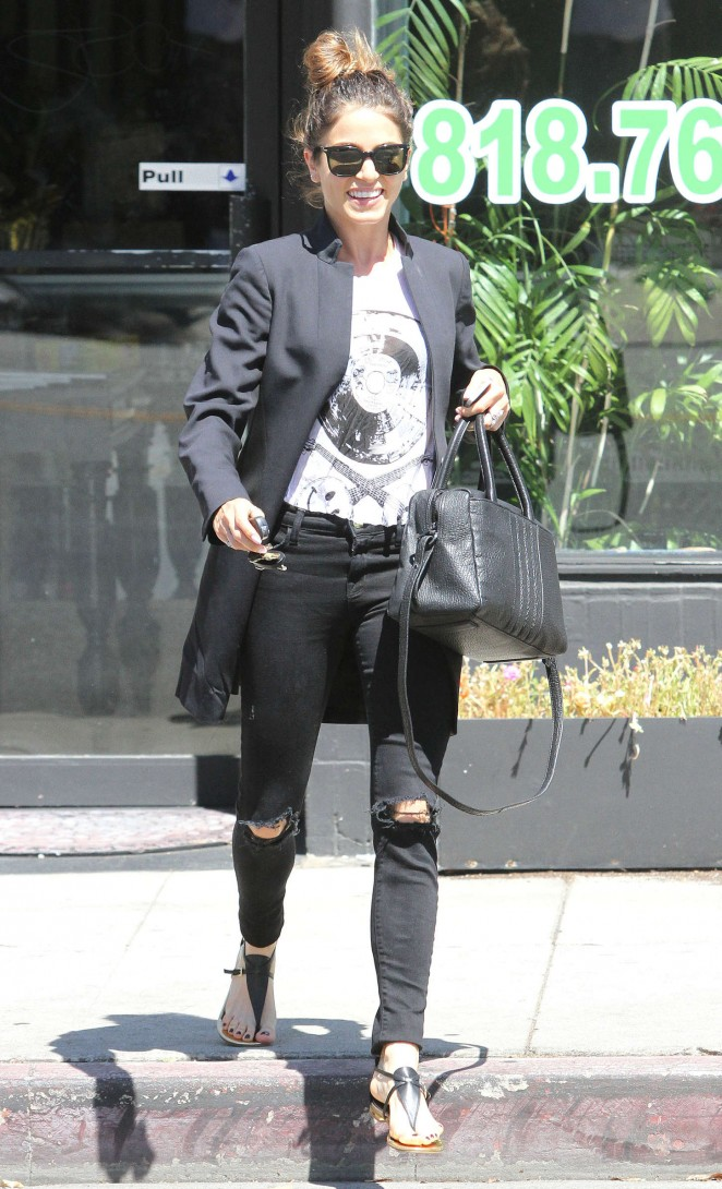 Nikki Reed in Ripped Jeans out in LA