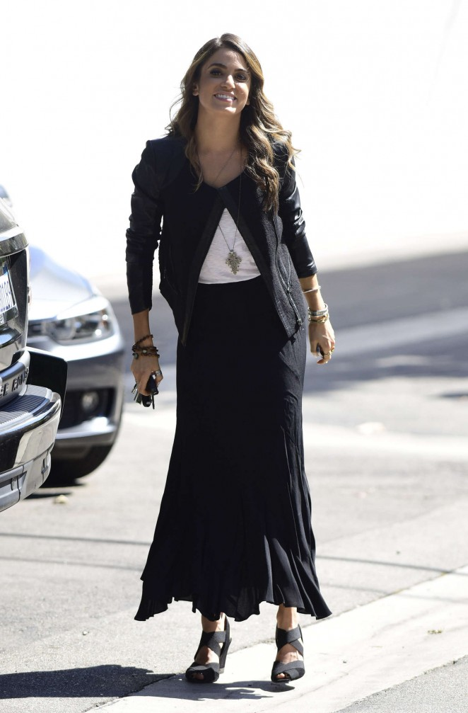 Nikki Reed in Long Black Skirt Shopping in Los Angeles