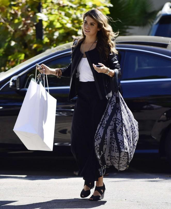 Nikki Reed in Long Black Skirt -08