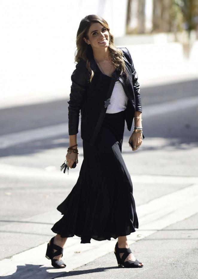 Nikki Reed in Long Black Skirt -10