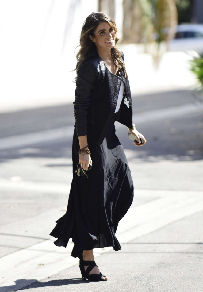Nikki Reed in Long Black Skirt -12