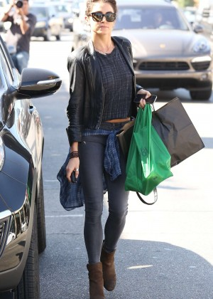 Nikki Reed in Tight Jeans out in Studio City