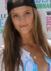 Nina Agdal wear bikini top at 2012 Ludus Athletic Model Beach Volleyball Tournament in Miami
