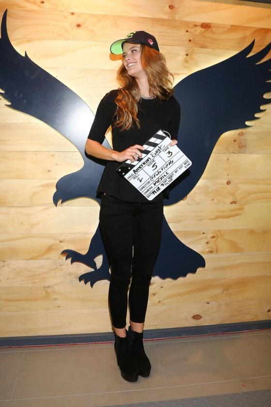 Nina Agdal at American Eagle Store Opening -26
