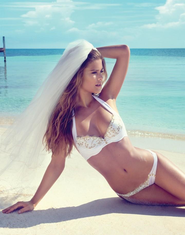 Nina Agdal – Beach Bunny Bride Photoshoot 2014