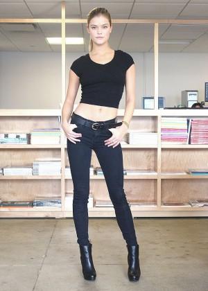 Nina Agdal: Black Bikini Polaroids Elite -01