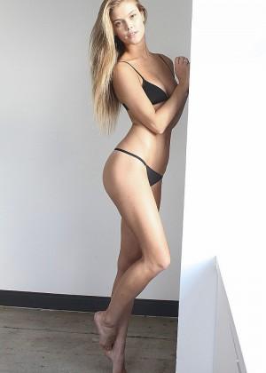 Nina Agdal: Black Bikini Polaroids Elite -06