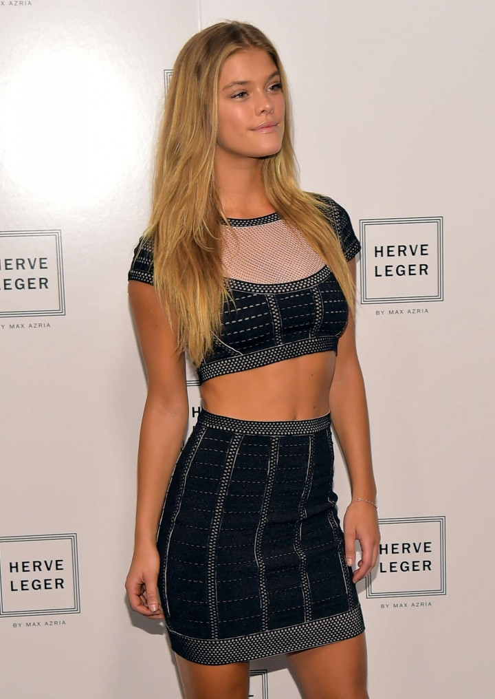 Nina Agdal - Herve Leger By Max Azria Fashion Show in NYC