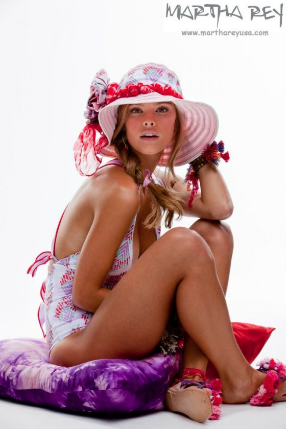 Nina Agdal � Martha Rey Swimwear photo shoot