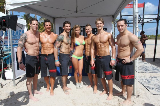 Nina Agdal at Beach Volleyball event 2013 in Miami Beach-13