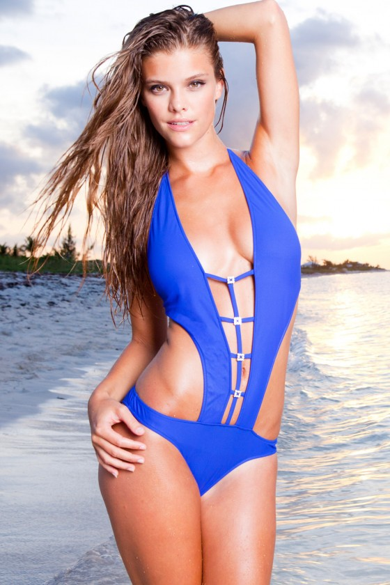 Nina Agdal - Sauvage Swimwear 2013 Collection photo shoot
