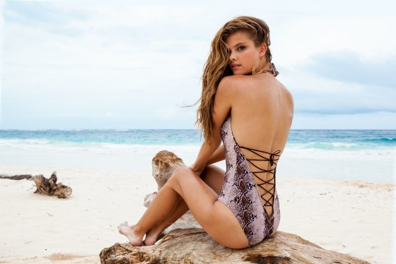 Nina Agdal – Sauvage Swimwear 2013 Resort Collection -02