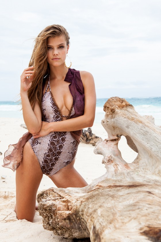 Nina Agdal – Sauvage Swimwear 2013 Resort Collection -20