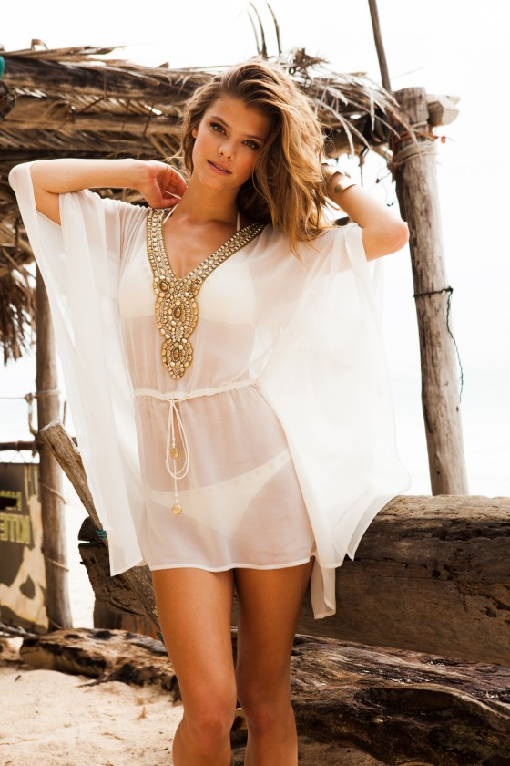 Nina Agdal – Sauvage Swimwear 2013 Resort Collection -31