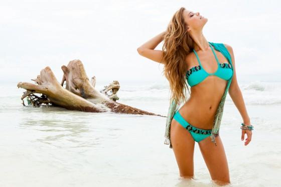 Nina Agdal – Sauvage Swimwear 2013 Resort Collection -32