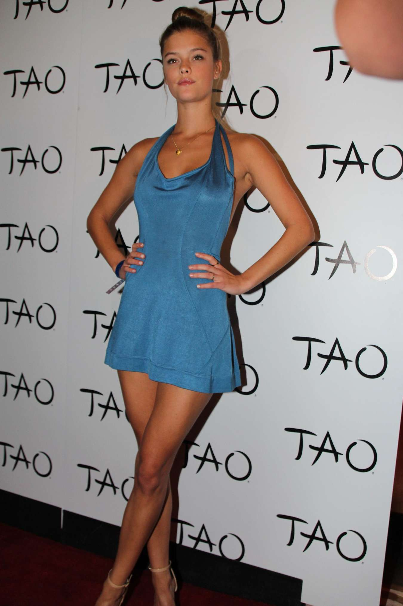Nina Agdal - Seven Deadly Sins Anniversary Party at TAO Nightclub in ...