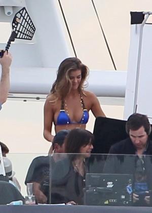 Nina Agdal Bikini Photos: Set Of Entourage -25