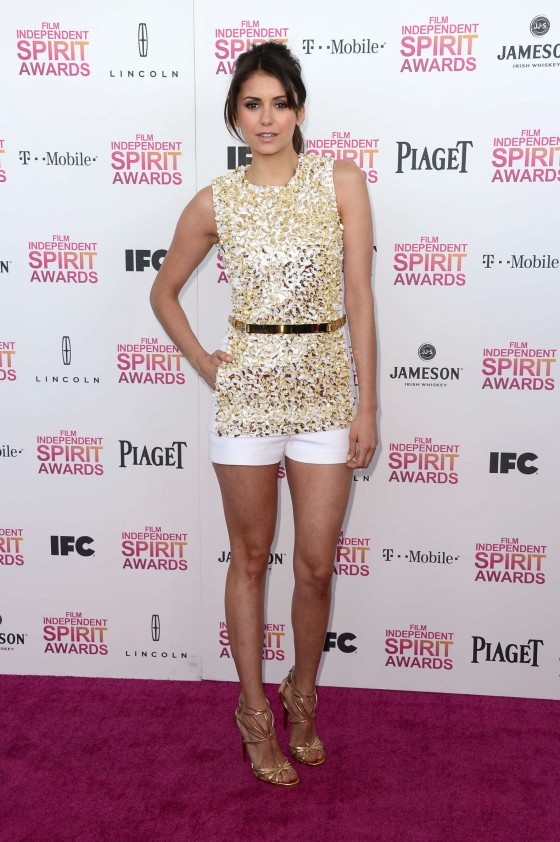Nina Dobrev – 2013 Film Independent Spirit Awards -05