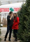 Nina Dobrev and Ian - Picks out a Christmas Tree in Atlanta